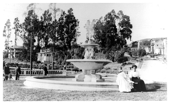 Image of original photo of the original fountain