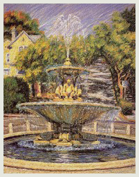 Michele Manning Fountain Print