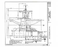 Note Card: Black and white image of the fountain, image from blueprint