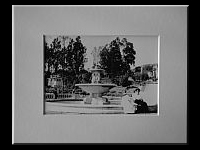 Print in White Mat: Image of original photo of the original fountain